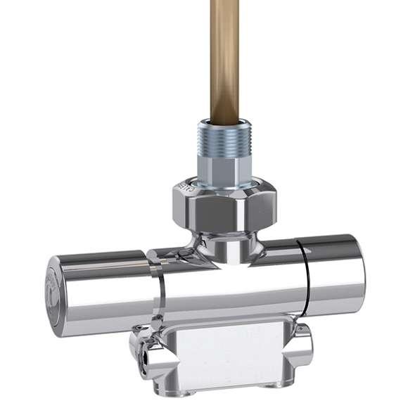 4005 - 供回水一体式单接口温控阀,抛光镀铬,左侧温控