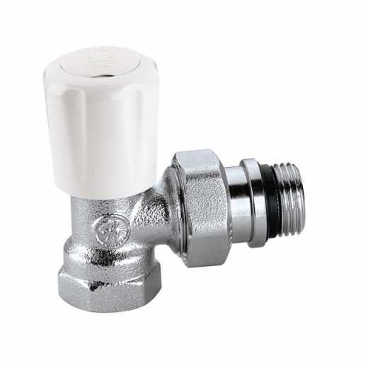 421 - 角型手/自动互换型温控阀,适合于钢管,带预调节