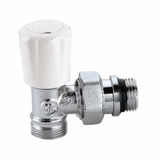 425 - 角型手/自动互换型温控阀,适合于铜管和塑料管,带预调节